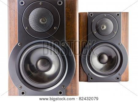 Pair Of Modern Music Speakers