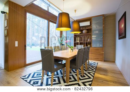 Dining Area Inside Modern House