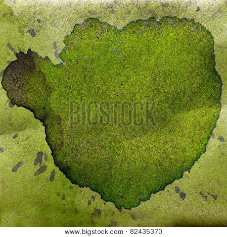 watercolor abstract green background paint color blob design spl