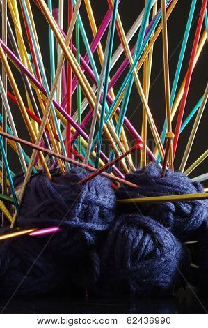 knitting needle ball wool