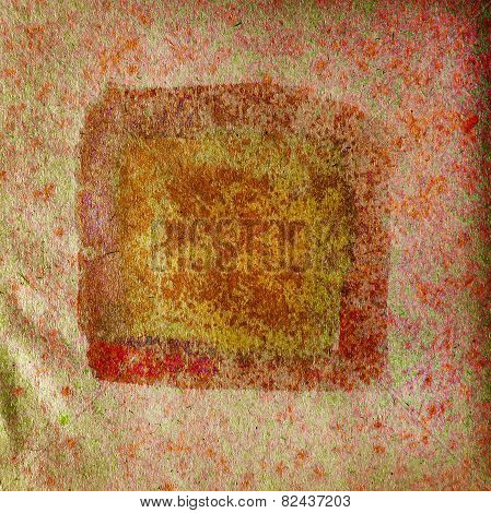 watercolor brown, red, square abstract background paint color bl