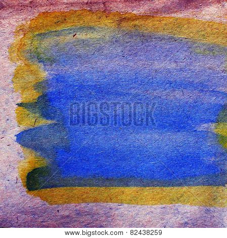 watercolor purple, blue, plate abstract background paint color b
