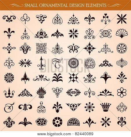Small Ornamental Design Elements Vector