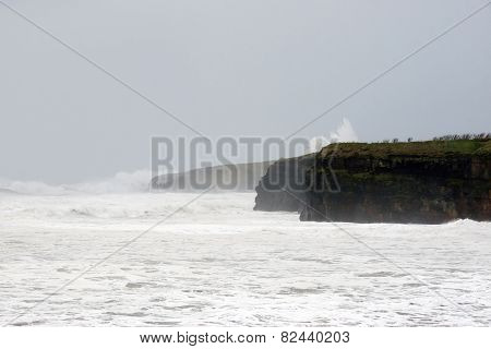 Storm Waves At Ballybunion Cliffs