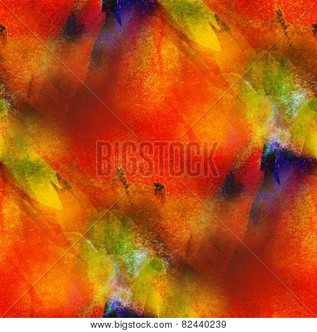 background seamless watercolor orange, yellow texture abstract p
