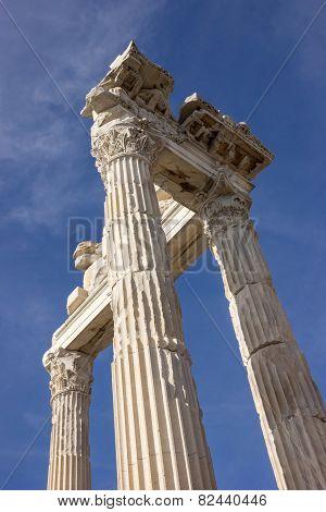 Columns In Temple Of Trajan 1