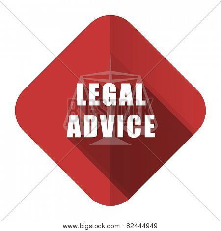 legal advice flat icon law sign