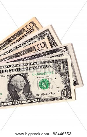 Fan Of Various Us Dollar Bills