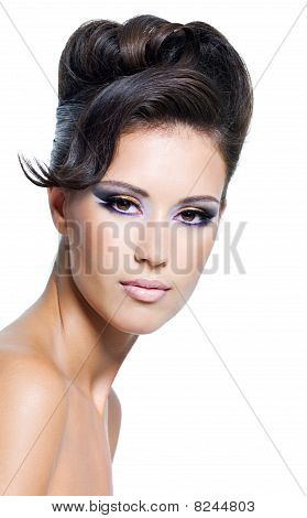 Glamour Woman With Modern Hairstyle