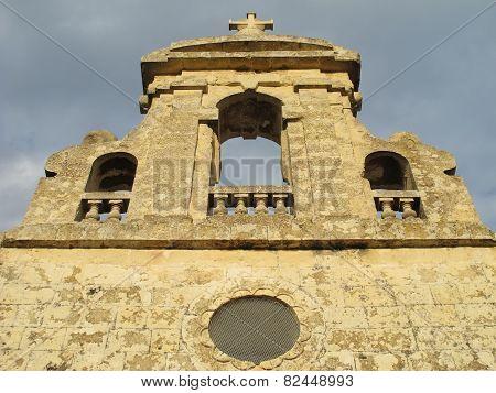 Old church facade in Malta