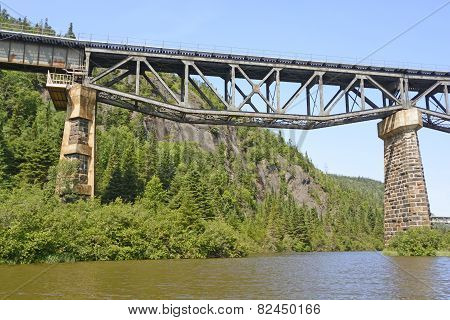 Inverted Truss Bridge From Below