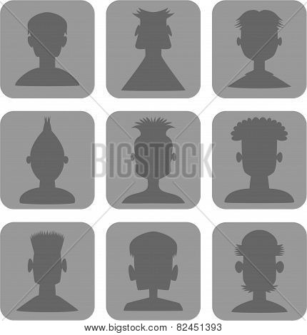 Web Icon Men Set