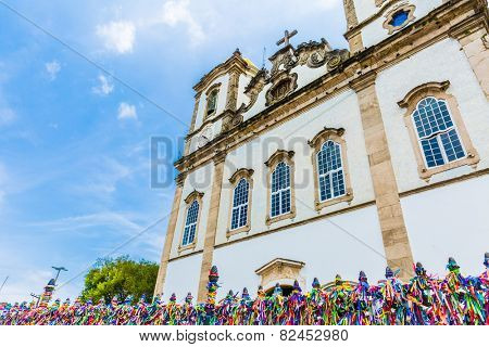 The famous Bonfim church in Bahia, Brazil