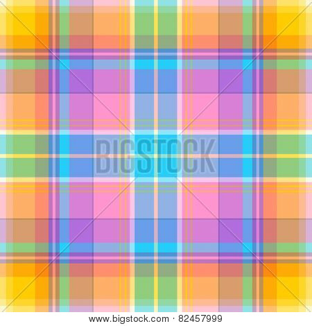 Seamless madras plaid pattern