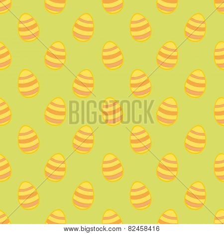 Tile vector pattern with easter eggs on green background