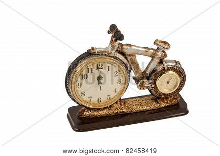 Souvenir Clock With Thermometer