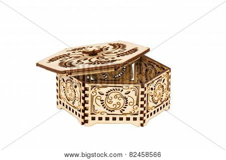 Small Hexagon Decorative Box