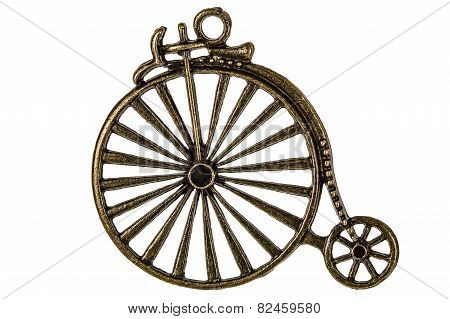 Bicycle, Decorative Element For Manual Work, Isolated On White Background