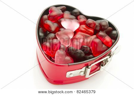 Mold With Jelly Heart