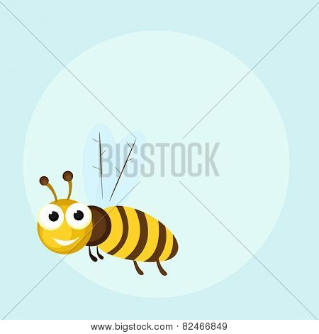 Cute cartoon of a honey bee.