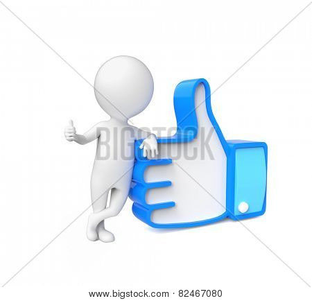 Small person showing thumb up