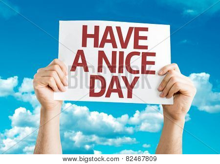 Have a Nice Day card with sky background