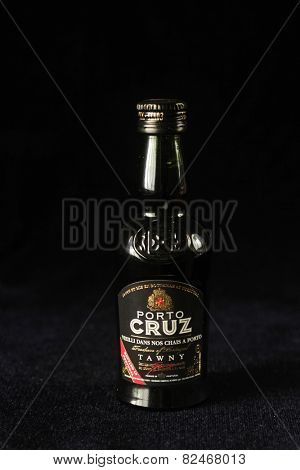 MONTREAL, CANADA - FEBRUARY 01, 2015: Bottle of Porto Cruz tawny port from Portugal, wine made from red grapes aged in large oak vats.