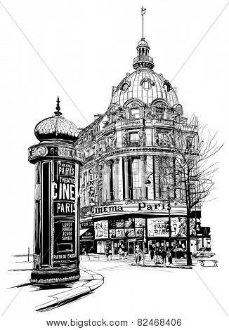 View of Paris at the