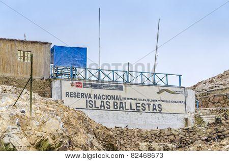 PARACAS, PERU, MAY 22, 2014: Office of Islas Ballestas National Reserve