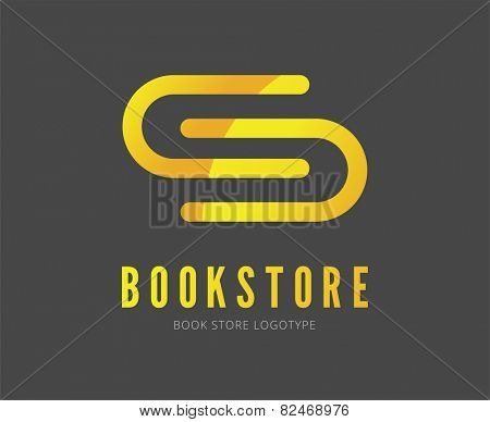 Abstract book vector logo template for branding and design