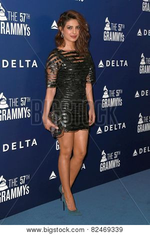 LOS ANGELES - FEB 5:  Priyanka Chopra at the Delta Air Lines Toasts 2015 GRAMMYs at a SOHO House on February 5, 2015 in West Hollywood, CA