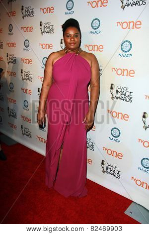 LOS ANGELES - FEB 5:  Adrienne C. Moore at the 46th NAACP Image Awards Non-Televised Ceremony  at a Pasadena Convention Center on February 5, 2015 in Pasadena, CA