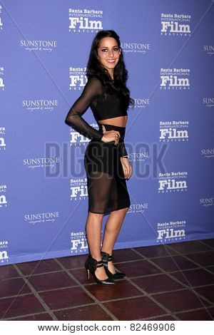 SANTA BARBARA - FEB 5:  Paola Baldion at the Santa Barbara International Film Festival - American Riviera Award at a Arlington Theater on February 5, 2015 in Santa Barbara, CA