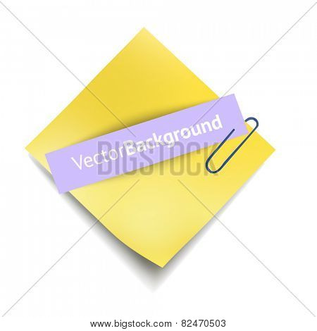 Sheets paper with clip. Vector illustration