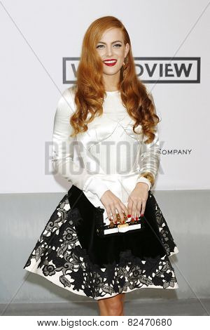 CAP D'ANTIBES - MAY 22:  Riley Keough at the amfAR's 21st Cinema Against AIDS Gala at Hotel du Cap-Eden-Roc on May 22, 2014 in Cap d'Antibes, France