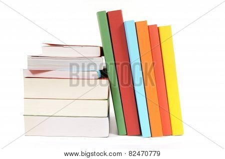 Collection Of Colorful Paperback Books