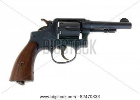 Hayward, CA - February 3, 2015: Smith & Wesson .38 special revolver model; Police Special - illustrative editorial