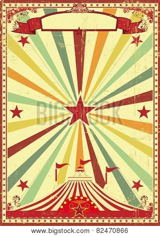 A vintage and retro background with a big top circus for your entertainment
