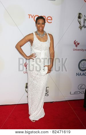 LOS ANGELES - FEB 6:  Daphne Wayans at the 46th NAACP Image Awards Arrivals at a Pasadena Convention Center on February 6, 2015 in Pasadena, CA