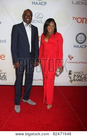 LOS ANGELES - FEB 6:  Glynn Turman, Jo-An Turman at the 46th NAACP Image Awards Arrivals at a Pasadena Convention Center on February 6, 2015 in Pasadena, CA