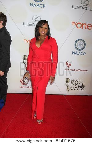 LOS ANGELES - FEB 6:  Jo-An Turman at the 46th NAACP Image Awards Arrivals at a Pasadena Convention Center on February 6, 2015 in Pasadena, CA
