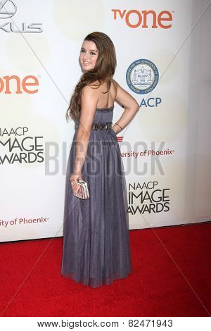 LOS ANGELES - FEB 6:  Fatima Ptacek at the 46th NAACP Image Awards Arrivals at a Pasadena Convention Center on February 6, 2015 in Pasadena, CA