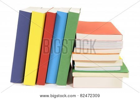 Set Of Colorful Paperback Books