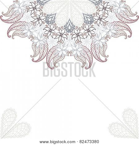 Elegant invitation cards with flowers. Vector illustration