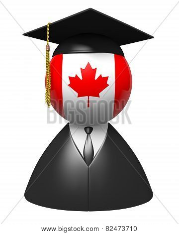 Canada college graduate concept for schools and education