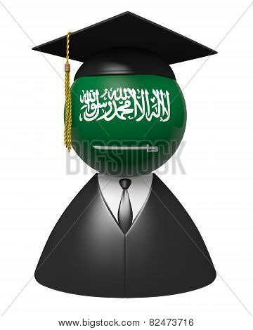 Saudi Arabia college graduate concept for schools and education