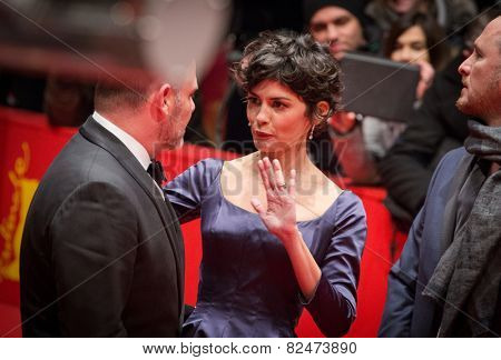BERLIN, GERMANY - FEBRUARY 05: Audrey Tautou, Nobody Wants the Night premiere. Opening Ceremony. 65th Berlinale International Film Festival at Berlinale Palace on February 5, 2015 in Berlin, Germany.