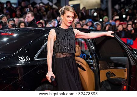 BERLIN, GERMANY - FEBRUARY 05: Heike Makatsch, the 'Nobody Wants the Night' premiere during the 65th Berlinale International Film Festival at Berlinale Palace on February 5, 2015 in Berlin, Germany.