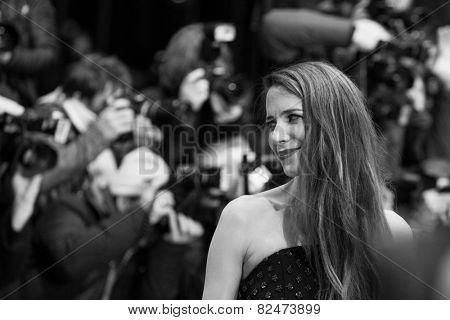 BERLIN, GERMANY - FEBRUARY 05: Julia Malik. Nobody Wants the Night, Opening Night premiere  65th Berlinale International Film Festival at Berlinale Palace on February 5, 2015 in Berlin, Germany