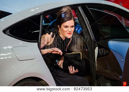 BERLIN, GERMANY, FEBRUARY 05: Fritzi Haberlandt,Nobody Wants the Night premiere,Opening Ceremony. 65th Berlinale International Film Festival at Berlinale Palace on February 5, 2015 in Berlin, Germany.